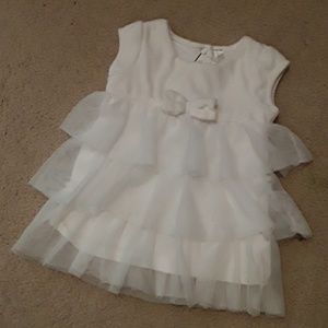 Cherokee Infant Girls Velvet Tulle Dress 6-9M